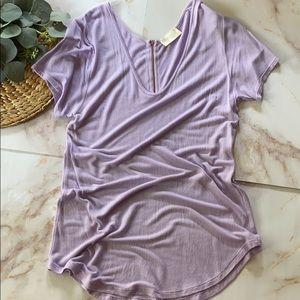 NWOT- Zara Basic shirt - Size L - Lavender purple